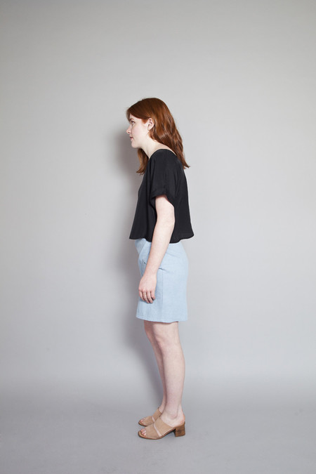 Eve Gravel New Dimension Skirt Bleached Denim