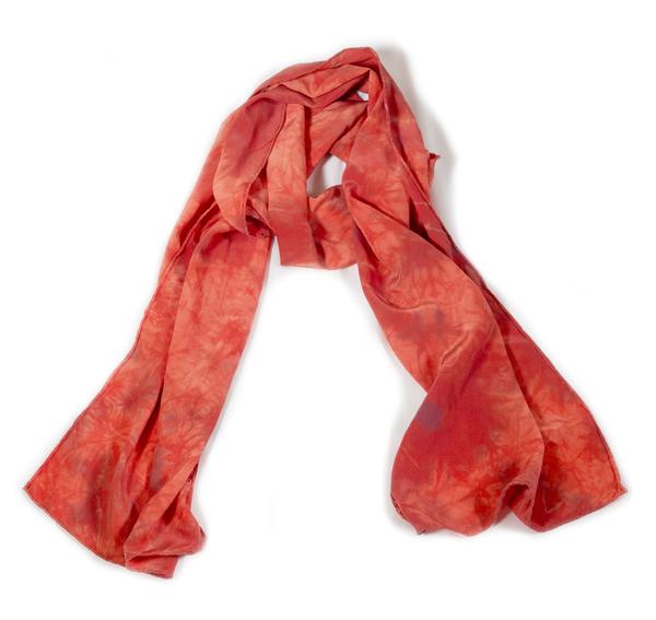 Shabd Terracotta Silk Scarf
