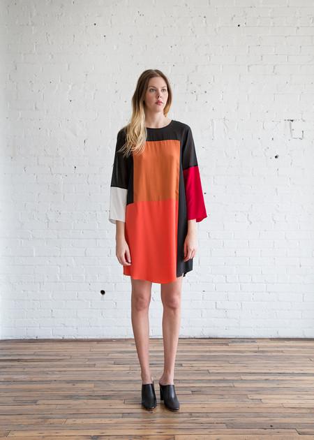 Correll Correll Stopa Dress Black, Orange, Red & White