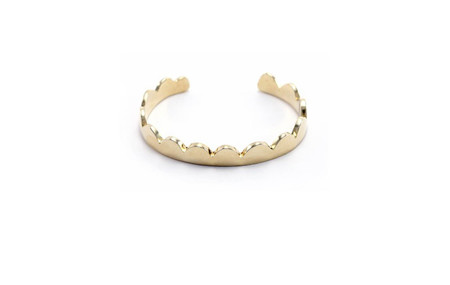Annie Costello Brown Scallop Cuff