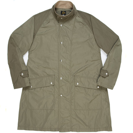 Needles Banded Collar Coat - Olive