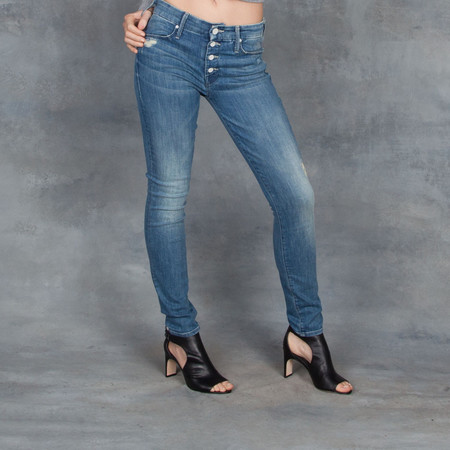 Mother Denim The Pixie Jean in Graffiti Girl Wash