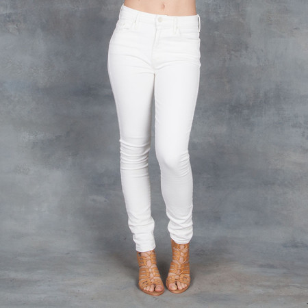 Mother Denim Mother High Waisted Looker Jeans Cream
