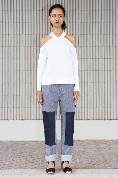 Nomia Combo Painter's Pants - Midnight/White