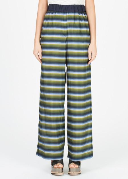 Odeeh Wide Leg Striped Silk Pant