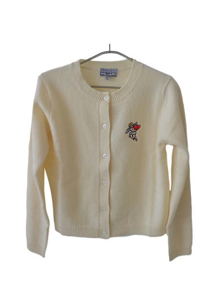 Ashley Williams Embroidered Cherub Cardigan - Cream