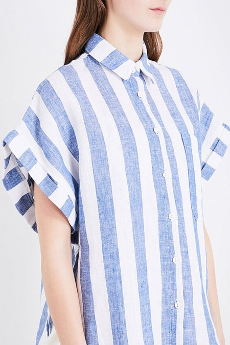 Study NY Shirt 1.5 in Blue Stripe