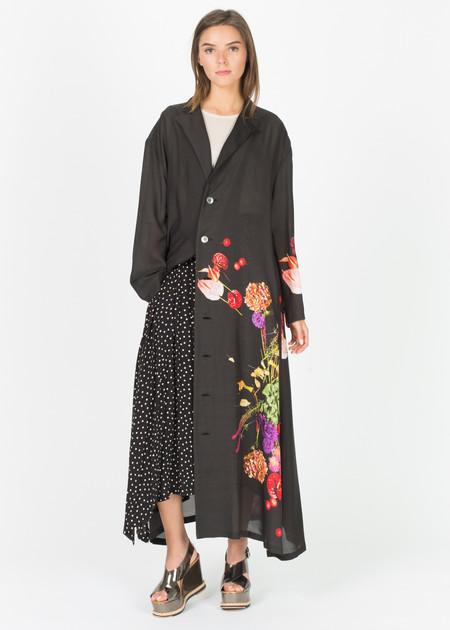 Nocturne #22 Sheer Floral Shirtdress
