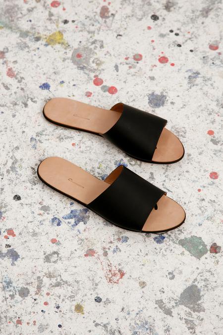 The Palantines Caelum Slide Sandal - Super Matte Black
