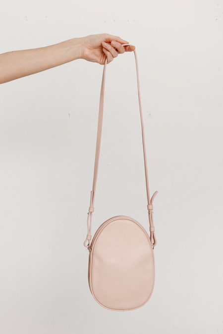 Modern Weaving -Mini Oval Crossbody - Pink