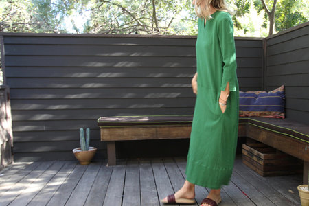 Pietsie Tangier Dress - Green Gauze