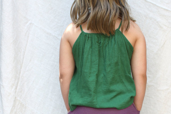 Pietsie Antibes Top in Palm Green