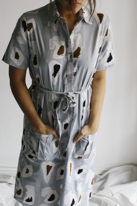 Osei-Duro Agona Dress | Grey Platelets