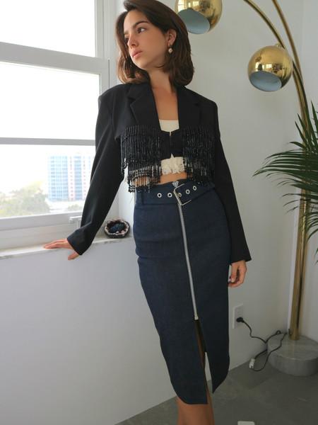 Ashley Williams Beaded Tailored Jacket - Black