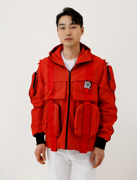 Christopher Raeburn Velcro Anorak Red