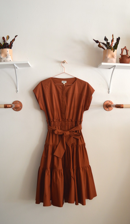 WHiT Ray Dress in Clay