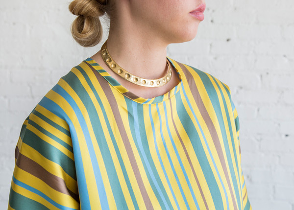 Nikki Chasin Mini Alma Dress Yellow Multi