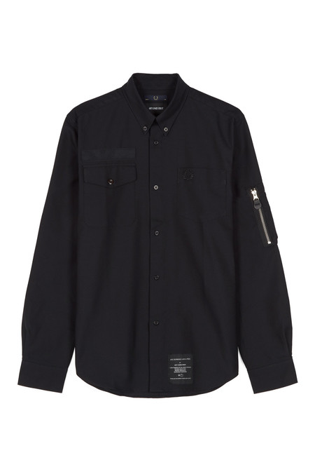 Fred Perry Pocket Detail Oxford Shirt - Black