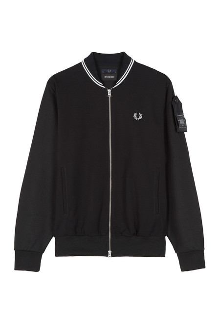Fred Perry Tipped Track jacket - Black