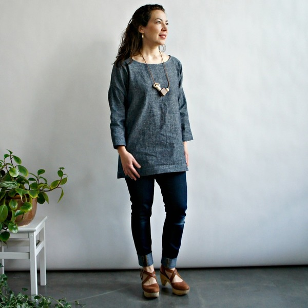 Jessalin Beutler Denim Long-Sleeved tunic