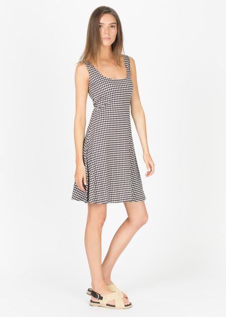 Siyu Monk Viscose Tank Dress - Cream/Black