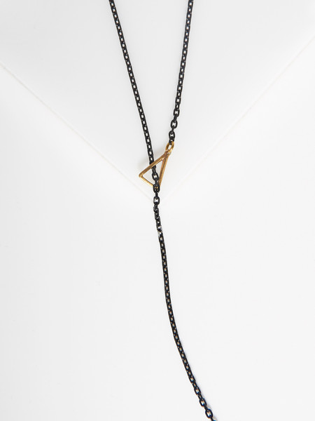 K/ller Petite Triangle Lariat Necklace