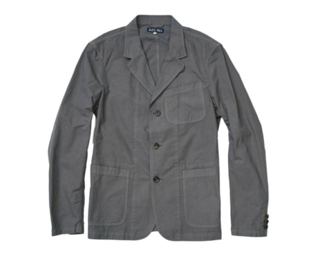 ALEX MILL RIPSTOP BLAZER GREY