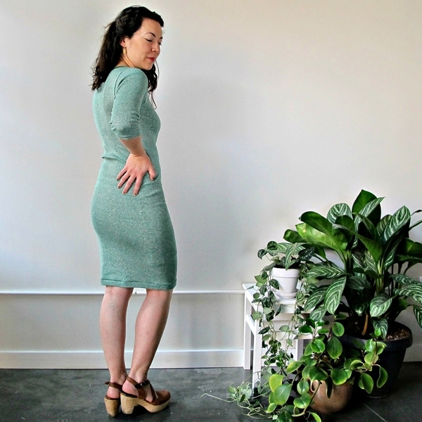 Curator Jude Dress | Green Stripes