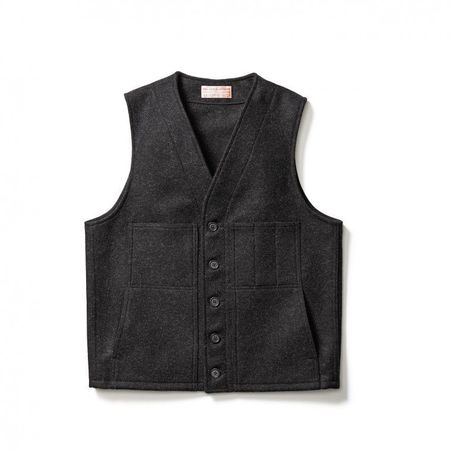 Filson Charcoal Mackinaw Wool Vest