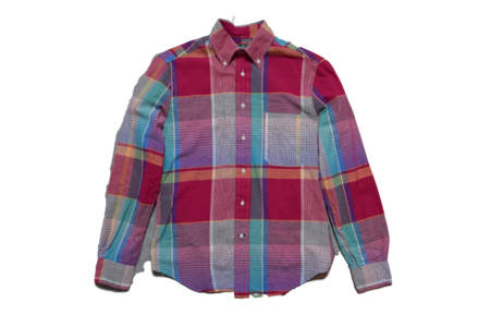 Gitman Vintage Pink Red Big Madras Check