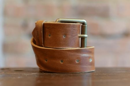 Milworks Cognac Leather Belt