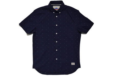 Penfield Cambria  Woven Pattern Short Sleeve Shirt