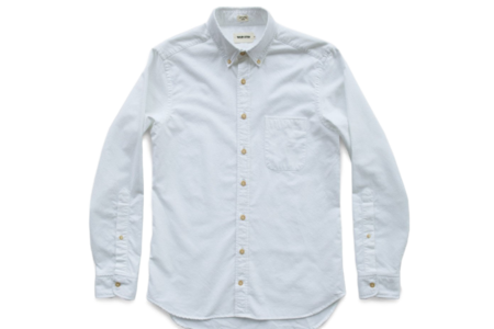 Taylor Stitch Jack Brushed White Oxford