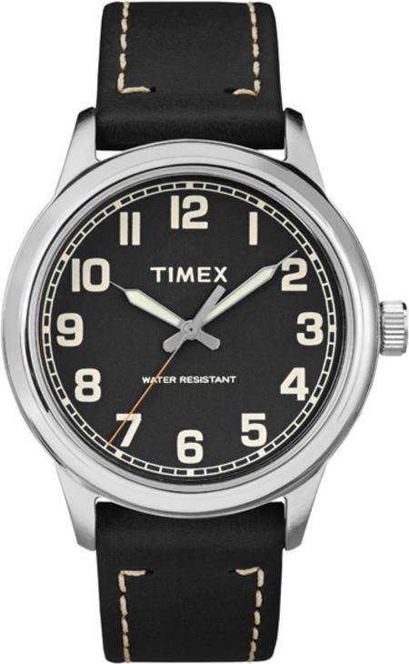 Timex Heritage Black Dial Black Strap