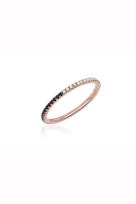 EF Collection Two Tone Diamond Eternity Stack Ring