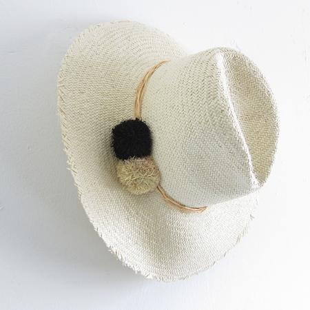 Hat Attack Cuppajyo Fringe Raffia Pom Hat
