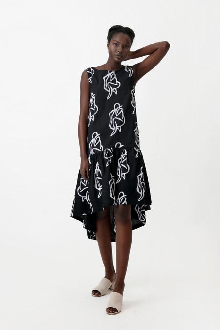 Osei-Duro Cascade Dress in Lilith