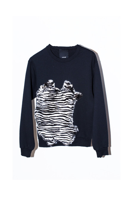 Unisex Assembly New York Cotton Zebra Sweatshirt