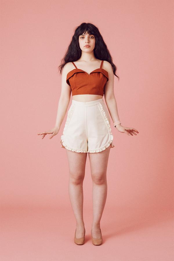 Samantha Pleet Floweret Shorts - Ivory