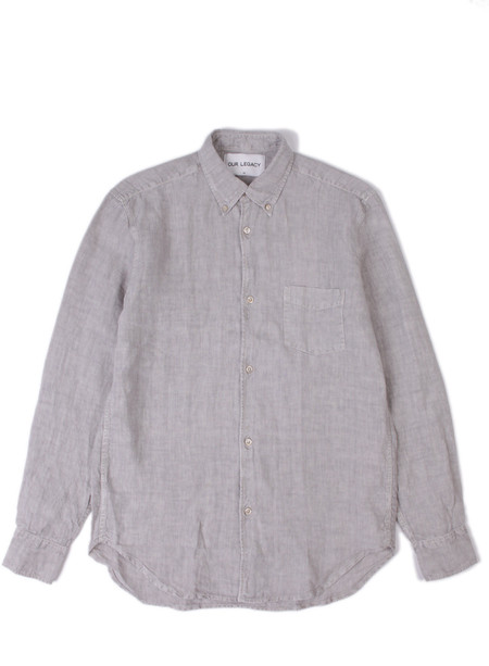 Our Legacy 1950's Shirt Stone Grey Linen