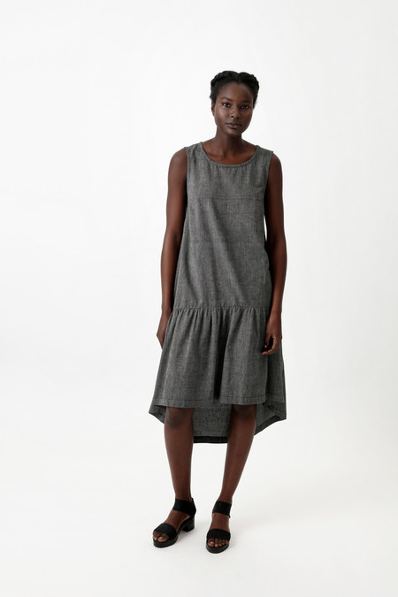 Osei-Duro Cascade Dress in Pewter