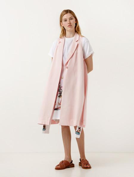 MM6 Maison Margiela Pink Gilet Vest