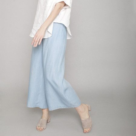 7115 by Szeki Indigo Wide-Legged Trouser