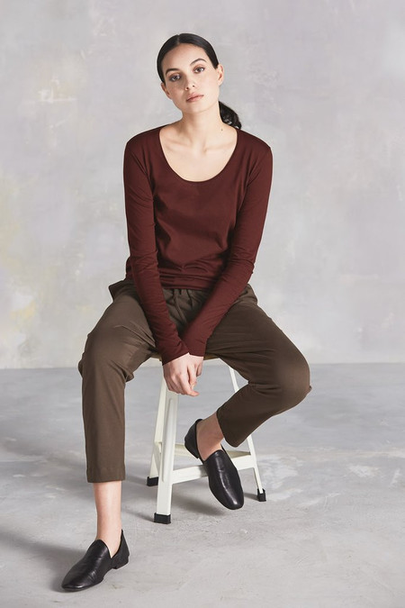 Kowtow Building Block Pant in Moss