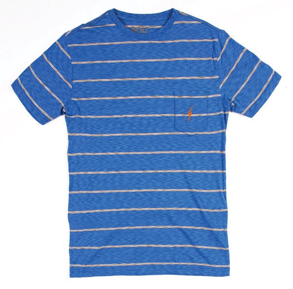 Lightning Bolt Sailor Stripe Pocket Tee