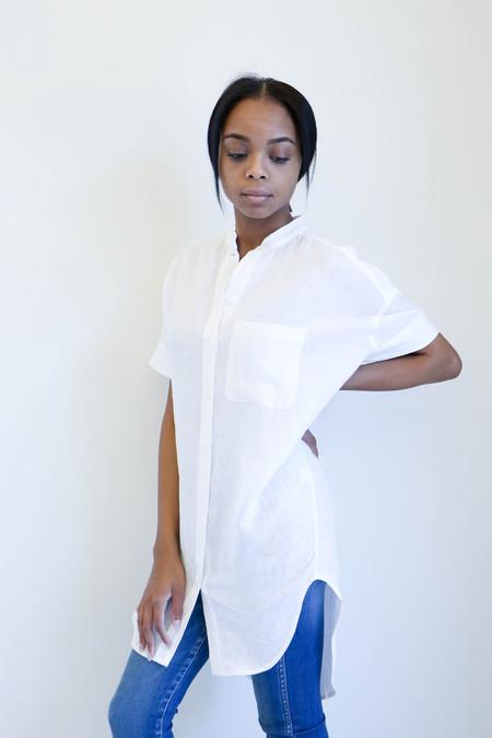 7115 By Szeki Linen Shirtdress in Off-White