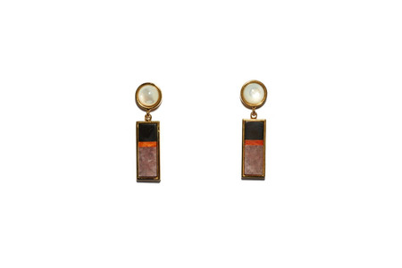 Lizzie Fortunato Cambodia Column Earrings