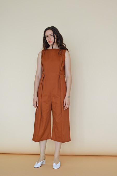 Wolcott : Takemoto Cotton Twill Bushi Jumpsuit in Penny