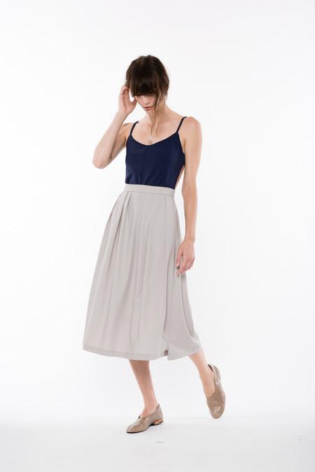 Wolcott : Takemoto Rayon Audrey Skirt in Dime
