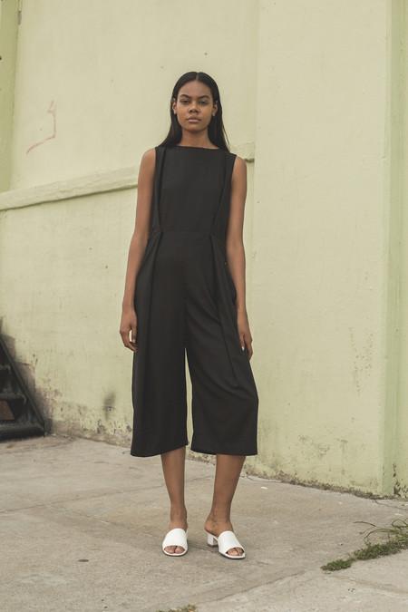 Wolcott : Takemoto Rayon Bushi Jumpsuit in Black